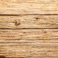 Old rough rustic wooden background texture with aged and weathered boards with a distressed surface and knots in closeup detail Royalty Free Stock Image