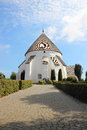 Old round church at Bornholm Denmark Royalty Free Stock Photo