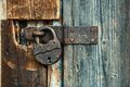 Old round lock Royalty Free Stock Photo