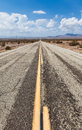 Old route close to amboy usa part of in the middle of the desert Royalty Free Stock Photo