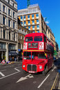 Old routemaster double decker bus in London, UK Royalty Free Stock Photo