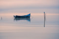 Old rowboat on the lake Royalty Free Stock Photo