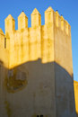 Old ruin brown construction africa sky near tower in morocco and the Royalty Free Stock Photo
