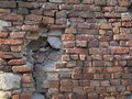 Old ruined brick wall, close up view Royalty Free Stock Photo
