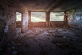 Old ruined building interior Royalty Free Stock Photo