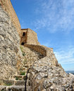 Old ruined castle in  Morella town, Spain. Royalty Free Stock Photo