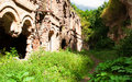 Old ruined fort in tarakanov ukraine Royalty Free Stock Image