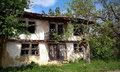 Old ruined house in spring Royalty Free Stock Photo