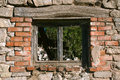Old ruined house window window of Royalty Free Stock Photography