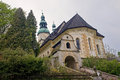 Old ruined and neglected church adrspach czech republic Stock Photography