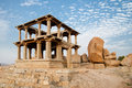 Old ruins of hampi in india ancient karnataka Royalty Free Stock Images