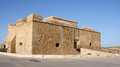 Old ruins harbor castle paphos cyprus Royalty Free Stock Photography
