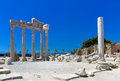 Old ruins in Side, Turkey Royalty Free Stock Image
