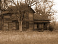 Old Run-down Farm House Royalty Free Stock Photo