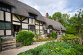 Old rural english cottage details of the thatched Royalty Free Stock Image