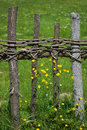 Old rural fence Stock Photography