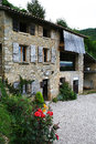 Old rural house made of stone in the north east italy in the area ​​prosecco Stock Photo