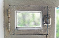 Old rural ventlight window frame abstract backgrounds background Stock Photo