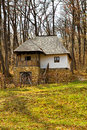 Old rural vila in romania romanian traditional village house the forest Stock Photo