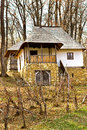 Old rural vila in romania romanian traditional village house with vineyard front of it Stock Photos