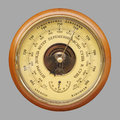 Old russian barometer Royalty Free Stock Photo