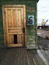 Old russian phone in barentsburg svalbard Stock Image