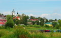 Old russian provincial city myshkin on the volga river Royalty Free Stock Image