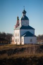 Old russian town landscape with church view of suzdal cityscape Royalty Free Stock Photography