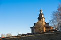 Old russian town landscape with church view of suzdal cityscape Stock Photos