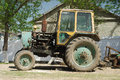 Old Russian Tractor Royalty Free Stock Images