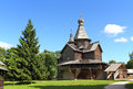 Old russian wooden church architecture in velikiy novgorod Stock Photos