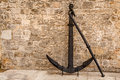 Old rusted anchor in dubrovnik dalmaltia croatia Stock Images