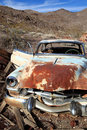 Old rusted car in junk yard Royalty Free Stock Photography