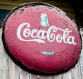 Old Rusted CocaCola Sign Royalty Free Stock Photo