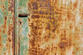 Old Rusted door with handle Royalty Free Stock Photo