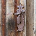 Old rusted doorhandle Royalty Free Stock Photo