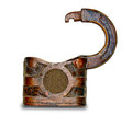 The Old rusted  padlock Stock Image
