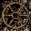 Old rusted wheel Royalty Free Stock Photography