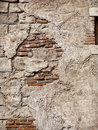 Old rustic stone and brick wall texture grungy background Royalty Free Stock Images