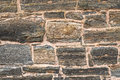 Old rustic stonewall background dirty stained stonework Royalty Free Stock Photo