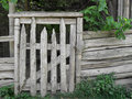 Old rustic wood post country gate Royalty Free Stock Photo