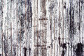 Old rustic wooden plank wall painted white Royalty Free Stock Photo