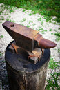 Old rusty anvil Royalty Free Stock Photo