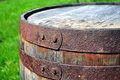 Old rusty barrel Stock Photo