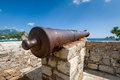 Old rusty cannon gun Royalty Free Stock Photo