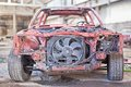 Old rusty car without doors Royalty Free Stock Photo