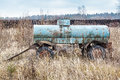 Old rusty car trailer tank Royalty Free Stock Photo
