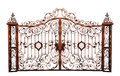 Old rusty cemetery gate. Royalty Free Stock Photo