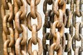 Old rusty chain texture Royalty Free Stock Photo