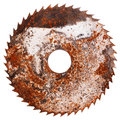 Old rusty circular saw blade Royalty Free Stock Photo